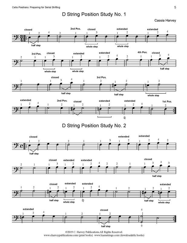 Free Cello Position Exercises ​on the ​D String