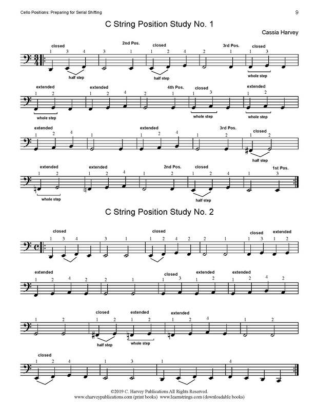 Free Cello Position Exercises ​on the ​C String