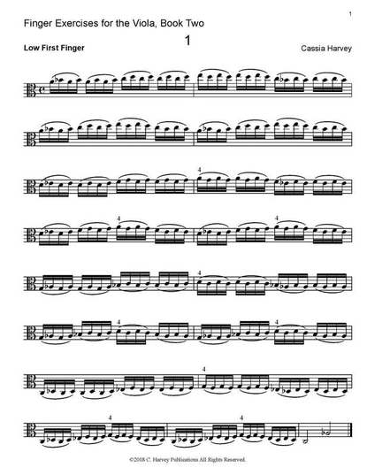 Finger Exercises for the Viola, ​Book Two