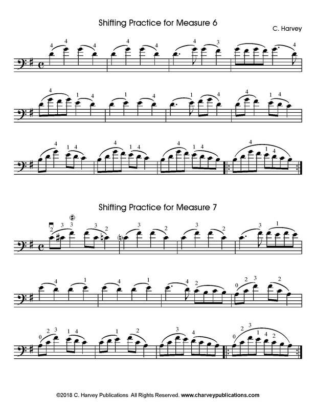 Cello Shifting Exercise for Lee Etude No. 2