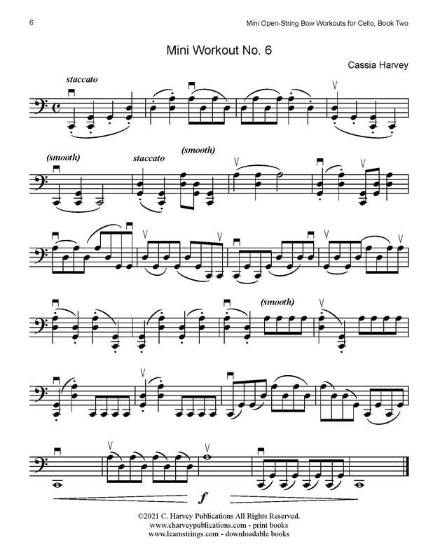 Better Bowing Articulation: Free Mini Open-String Workouts for Cello, Book Two!