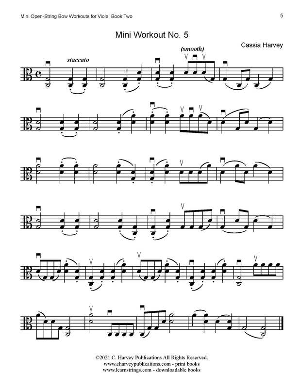 Better Bowing Articulation: Free Mini Open-String Workouts for Viola, Book Two!