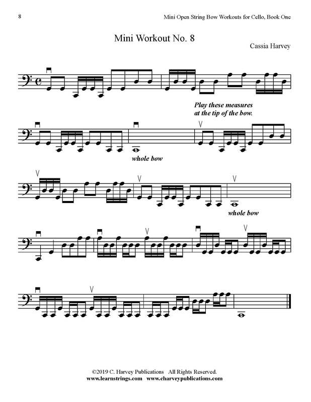 Free Cello Bowing Workout No. 8