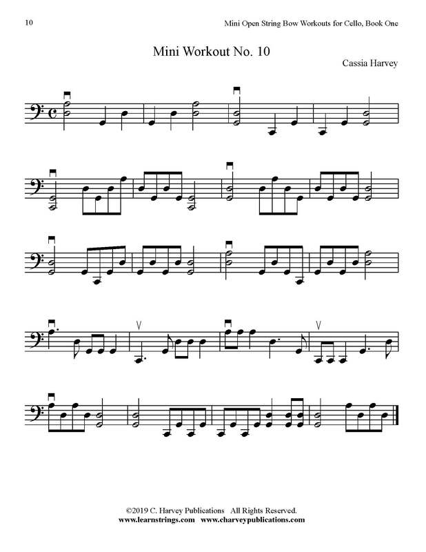 Free Cello Bowing Workout No. 10