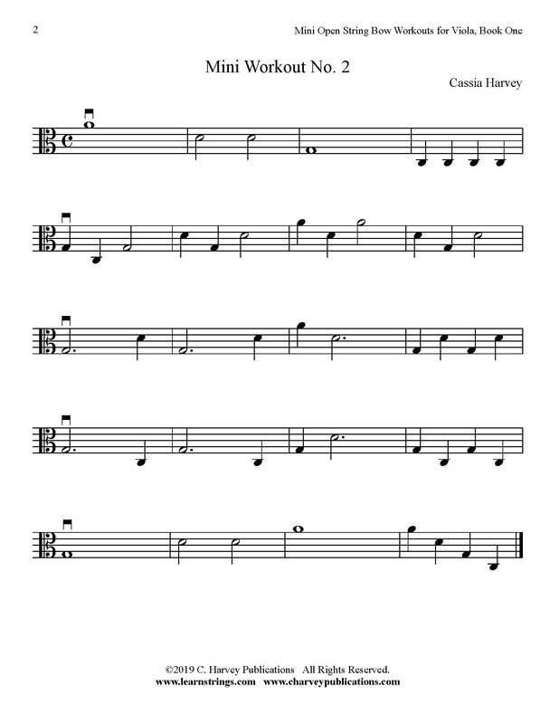 Free Mini Viola Bowing Workout No. 2
