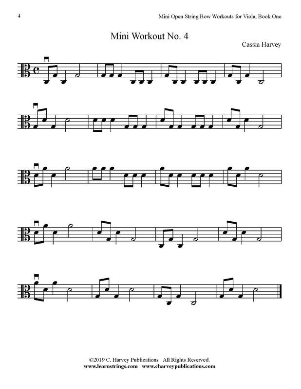 Free Mini Viola Bowing Workout No.