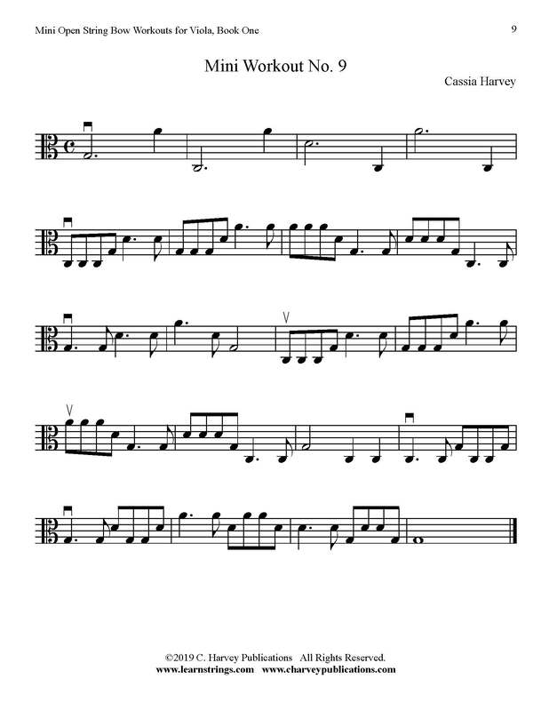 Free Mini Viola Bowing Workout No. 9
