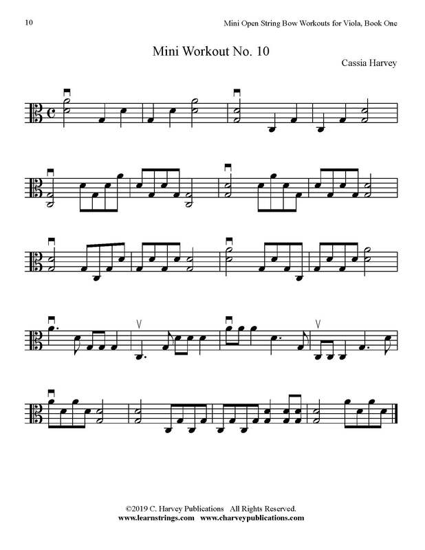Free Mini Viola Bowing Workout No. 10