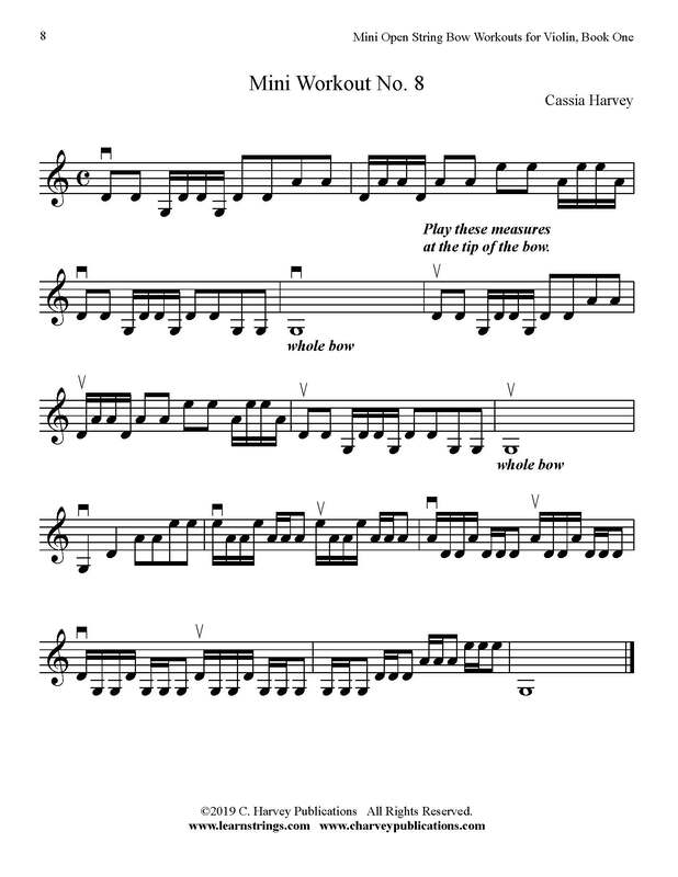 Free Mini Violin Bowing Workout No. 8