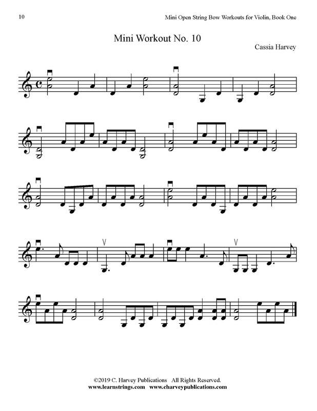 Free Mini Violin Bowing Workout No. 1