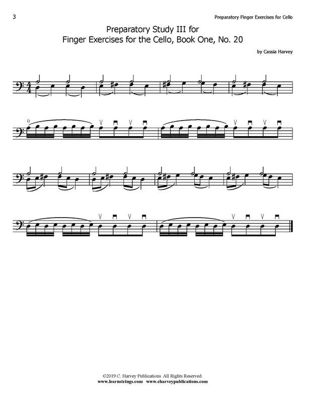 Free Cello Finger Exercise No. 3