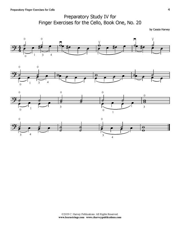 Free Cello Finger Exercise No. 4
