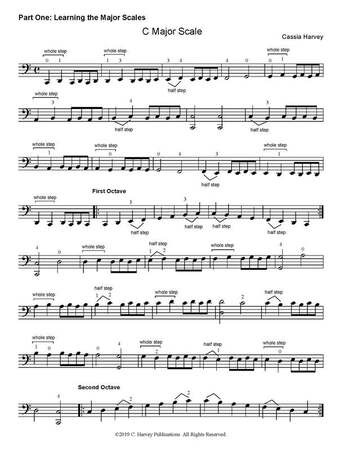 Learning Three-Octave Scales on the Cello - Sample Pages