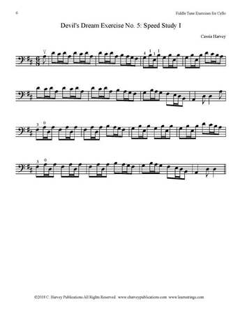 Devil's Dream Exercise for Cello No. 5 Harvey