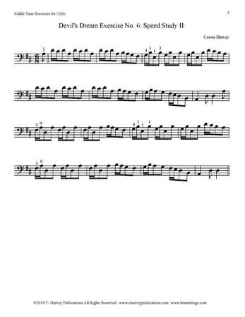 Devil's Dream Exercise for Cello No. 6 Harvey