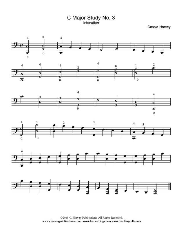 Cello Scale Variation: Intonation
