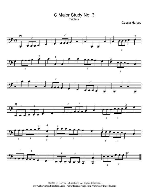 Cello Scale Variation: Triplets
