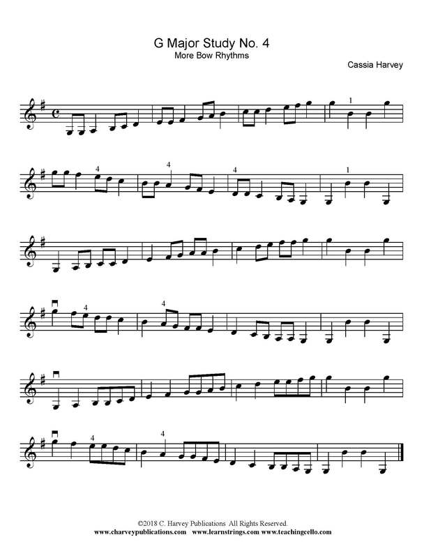 Violin Scale Variation: More Bow Rhythms